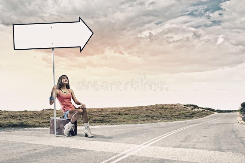 Download Путешествовать Autostop стоковое фото. изображение насчитывающей напольно - 41651080