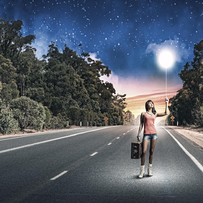 Download Путешествовать Autostop стоковое изображение. изображение насчитывающей свободно - 41652581