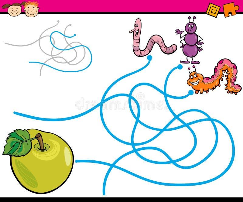 Пути или игра шаржа лабиринта иллюстрация вектора