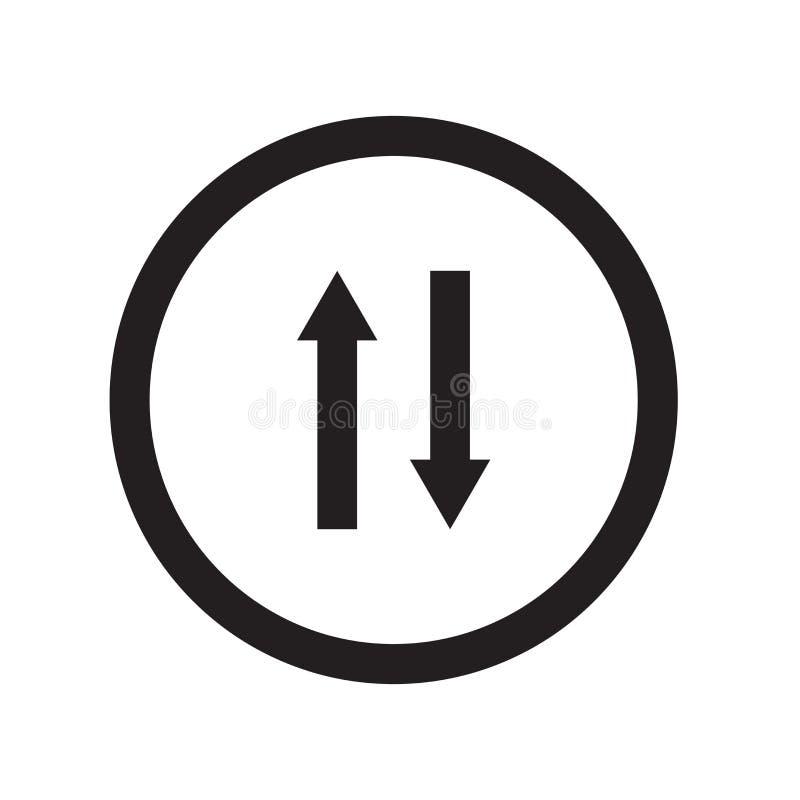 2 пути подписывают значок  иллюстрация вектора