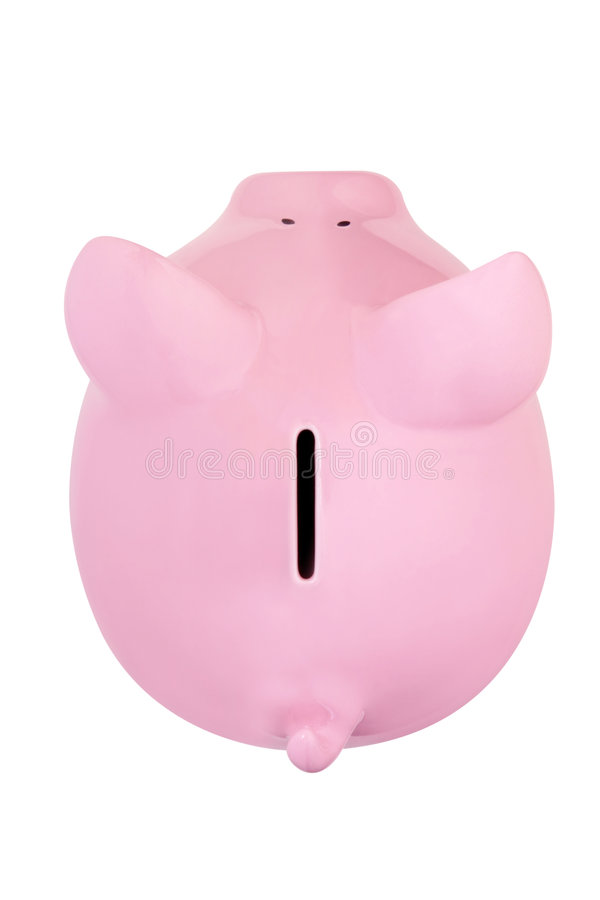 путь банка Piggy Стоковое Изображение