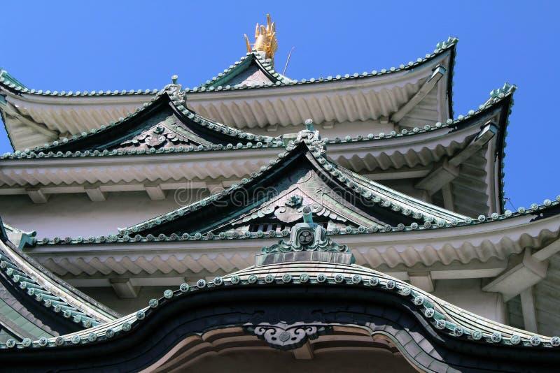 Путь ближе к замку Нагои, значок этого города и Chubu стоковое изображение rf