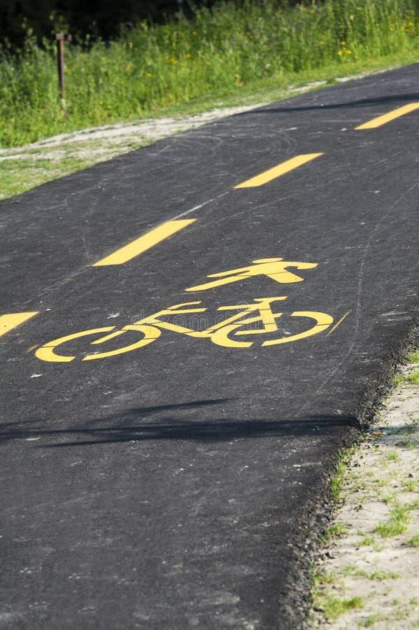 Путь велосипеда стоковое изображение rf