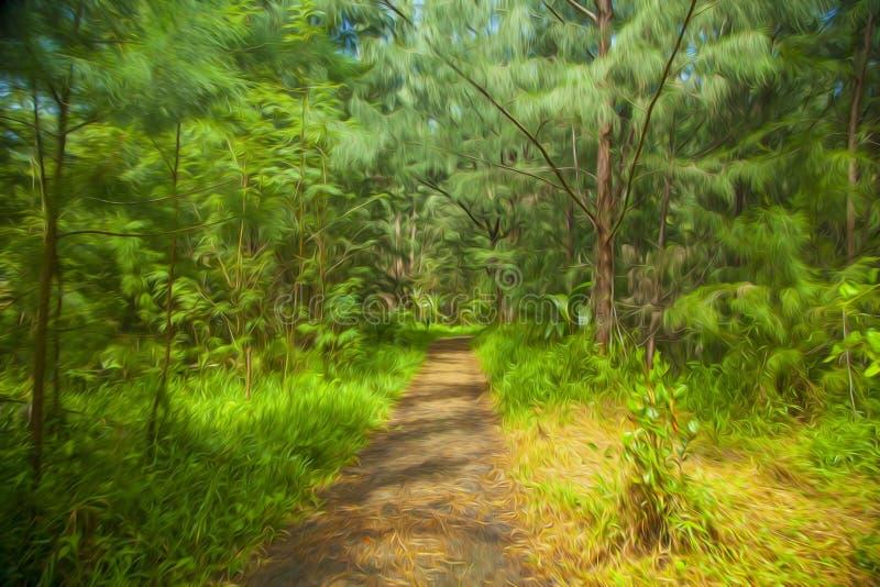 Путь в древесинах стоковое изображение