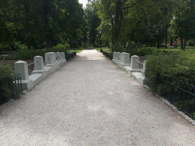 Путь в саде Bernardinai стоковое фото