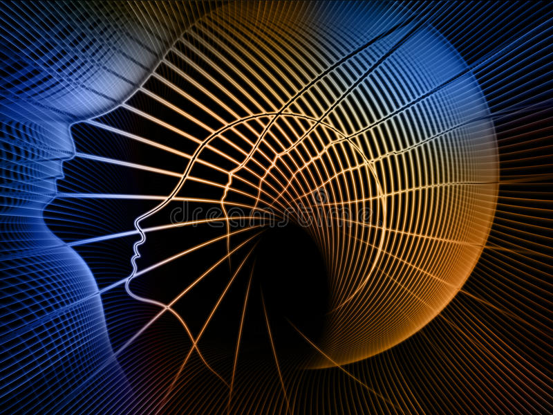 Путь геометрии души иллюстрация вектора