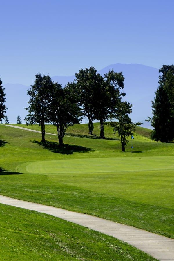 путь гольфа курса тележки стоковые фотографии rf