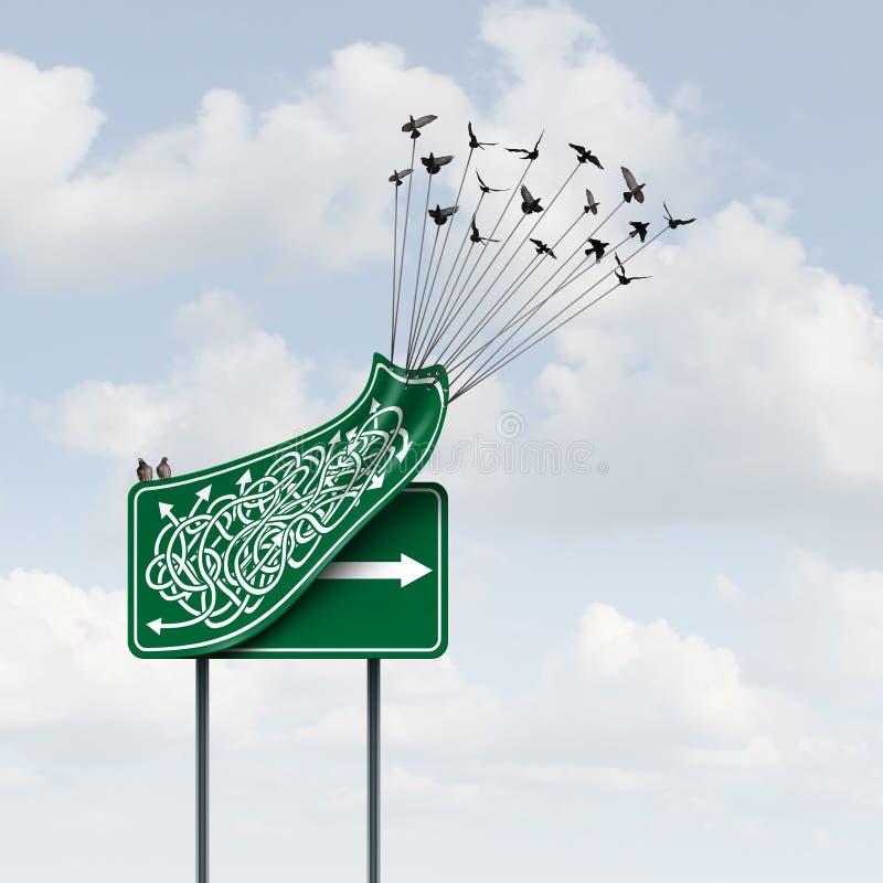 Путь дела иллюстрация штока