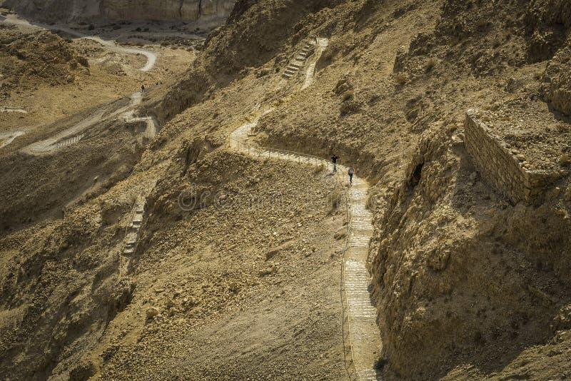 Путь змейки Masada стоковая фотография