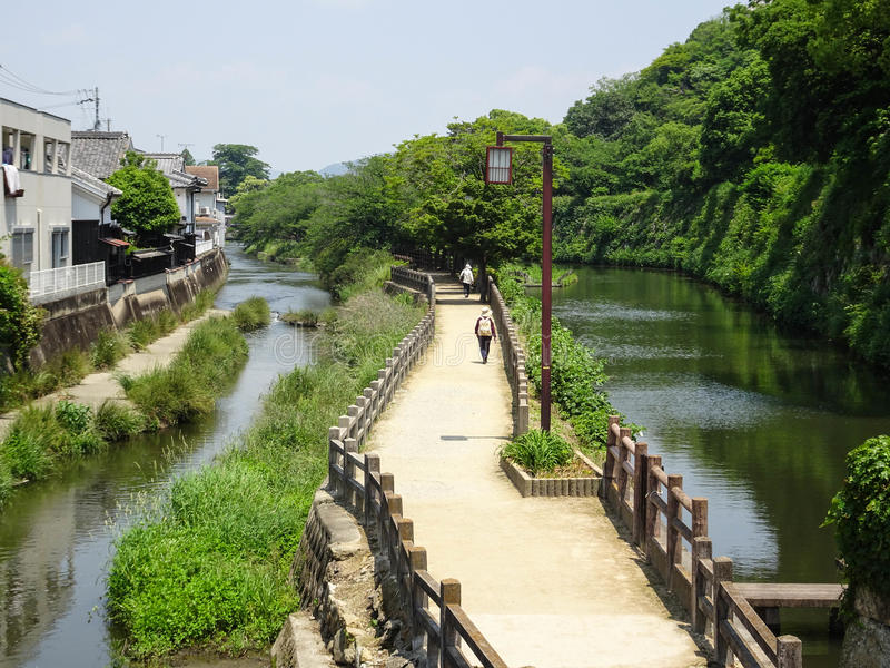 Путь и пейзаж замка Himeji стоковое фото