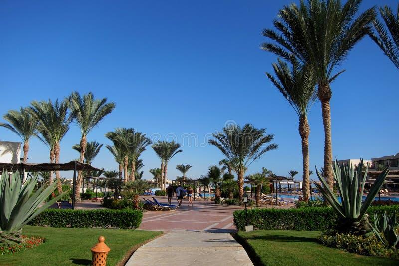 путь, который нужно сложить вместе на гостинице в Египте стоковое фото