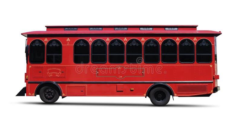 Путь клиппирования красного †вагонетки» стоковое фото