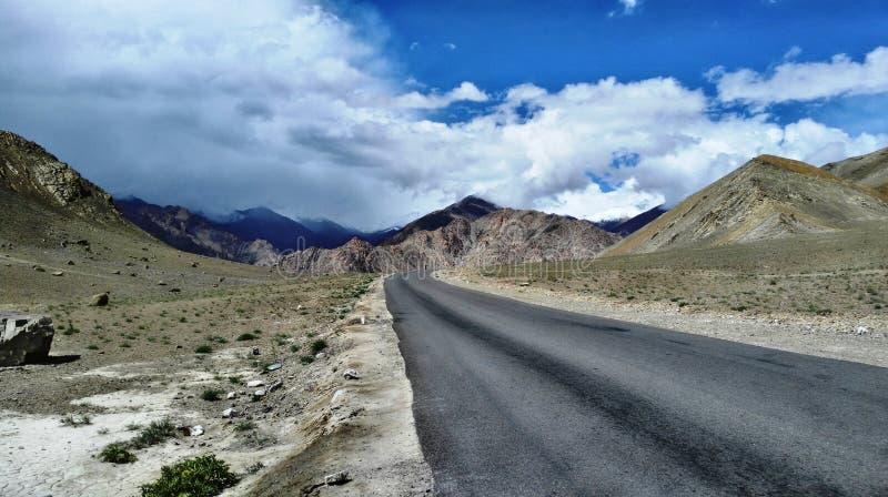 Путь к ladakh leh стоковое фото