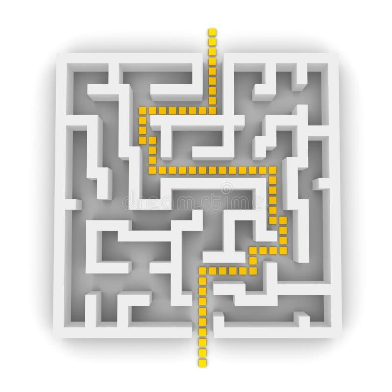 путь лабиринта 3d бесплатная иллюстрация