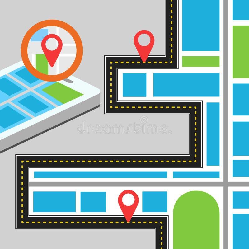 Путь навигации стоковые изображения