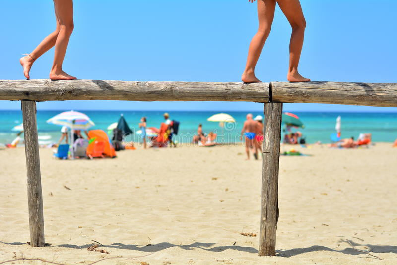 Путь на пляже стоковое изображение rf