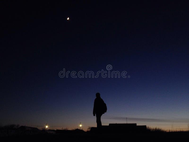 Путь ночи стоковое фото