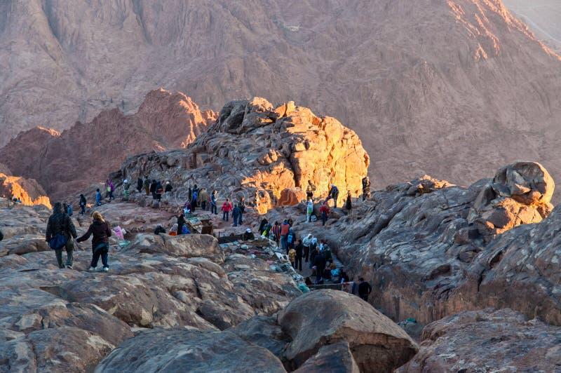 Путь паломников вниз от святой горы Синай, Египта стоковые фото
