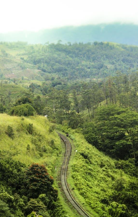 Путь рельса стоковое изображение rf