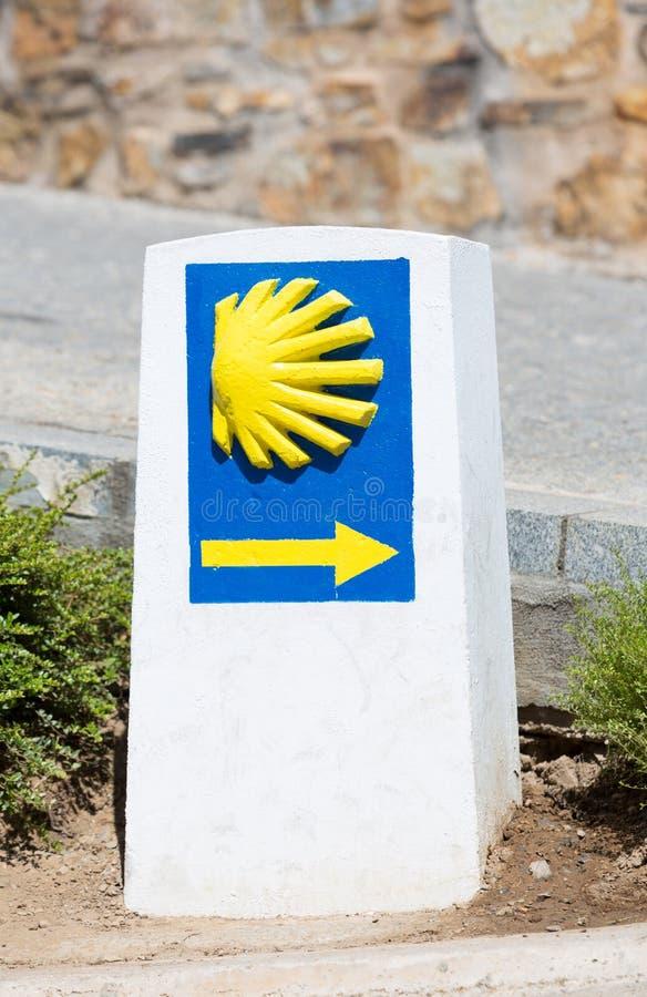 Путь сигнала Сантьяго стоковое фото