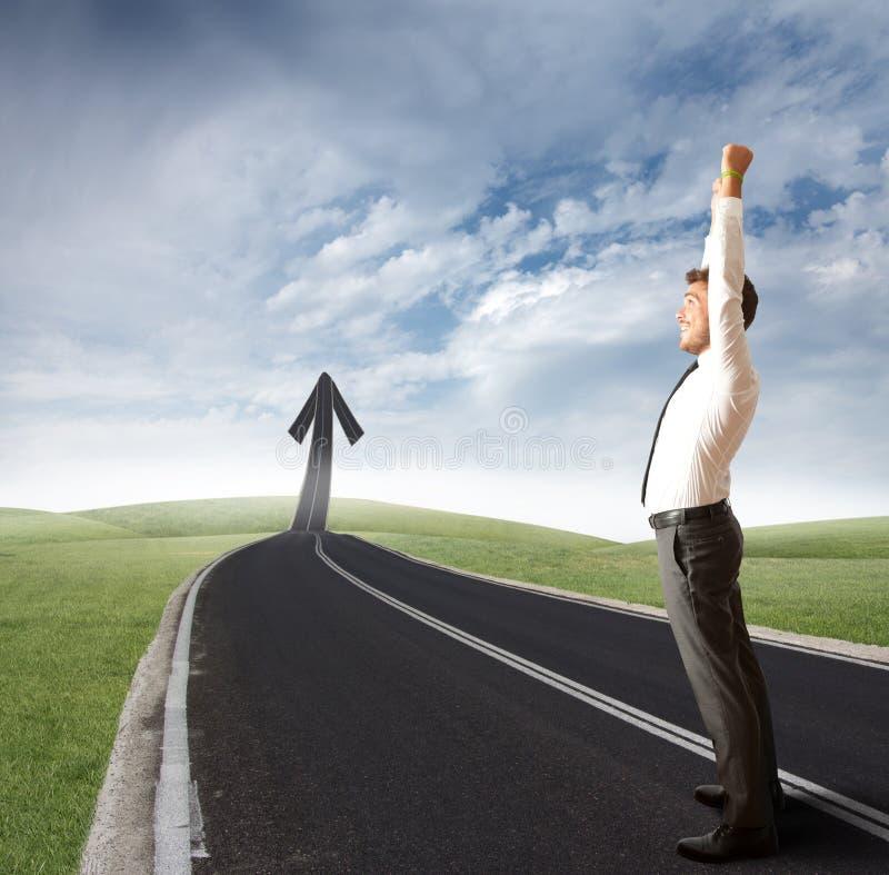 Путь успеха стоковое фото rf
