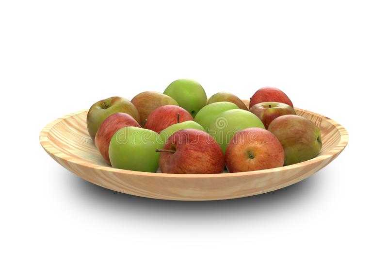 Путь Яблока ый-зелен и красный, закрепляя, manzana maçã стоковая фотография