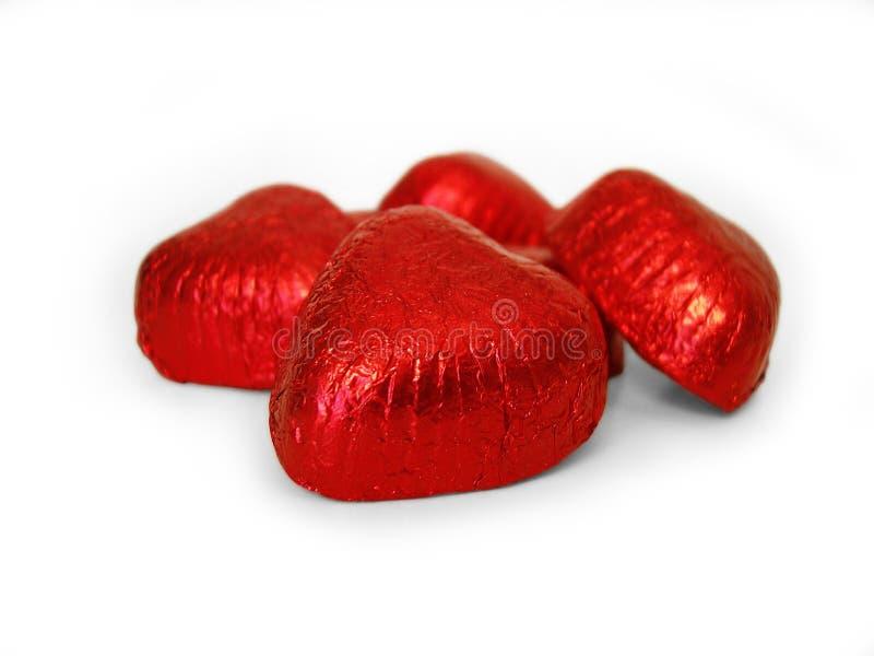 путь 2 сердец шоколада включенный стоковые фотографии rf