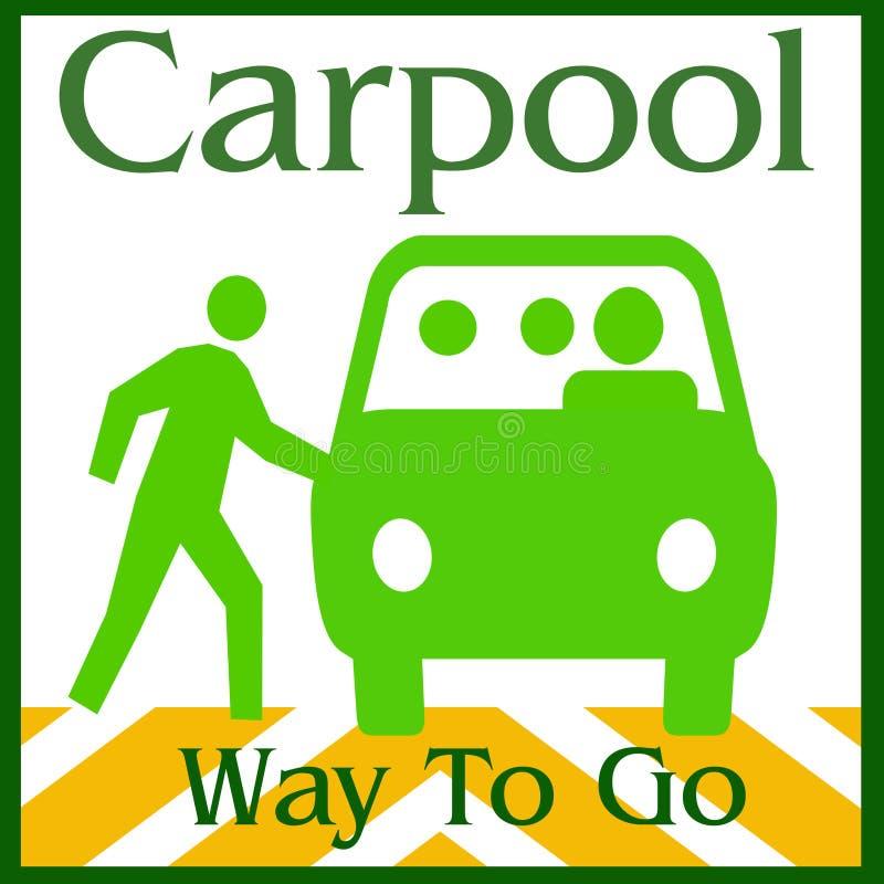 путь carpool иллюстрация вектора
