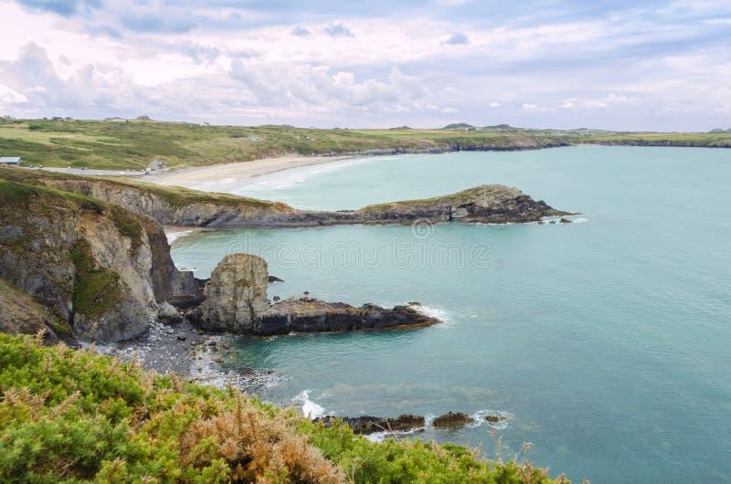 Путь Pembrokeshire прибрежный - Уэльс, Великобритания стоковое изображение rf