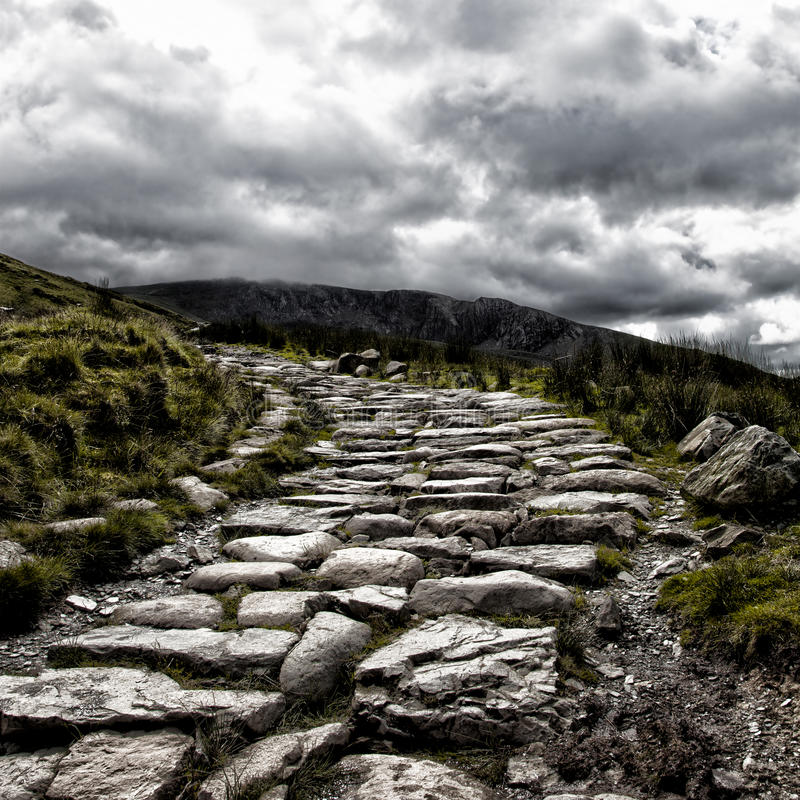 Путь Snowdon держателя стоковые изображения