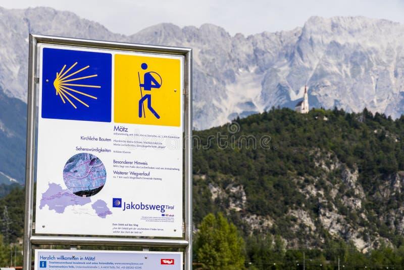 Путь St James, Moetz, Австрии стоковые изображения rf