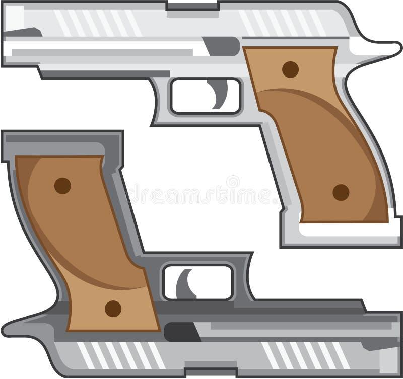 Пушечный металл серебра вектора оружи красит eps иллюстрация штока