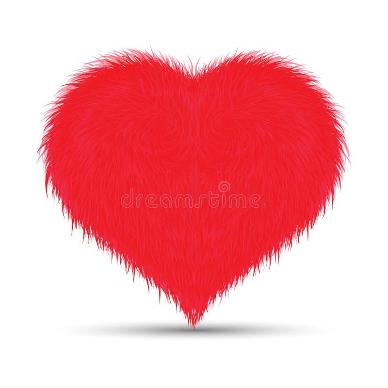 Пушистое/меховое сердце стоковая фотография