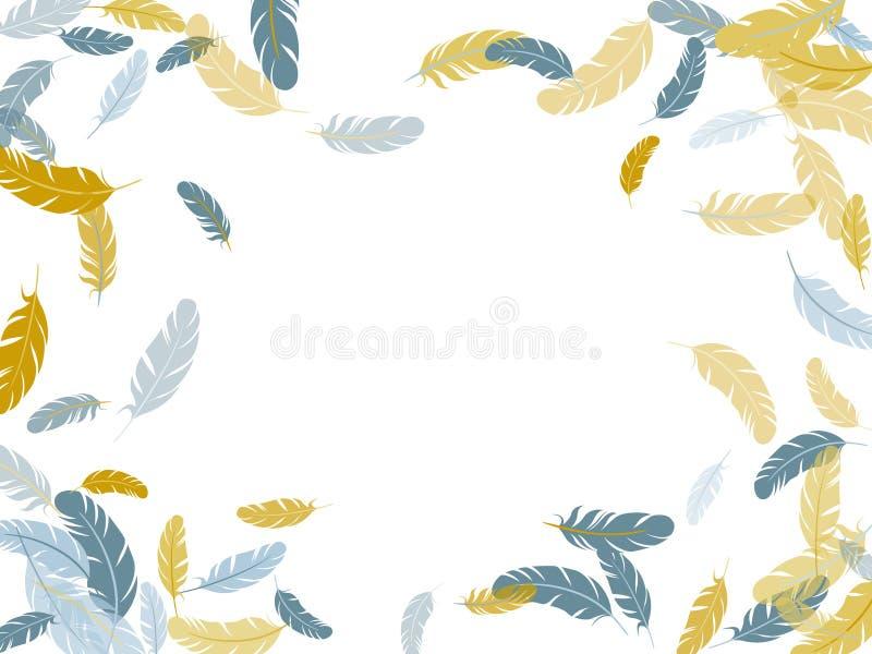 Пушистые вертеть пер на белом дизайне бесплатная иллюстрация