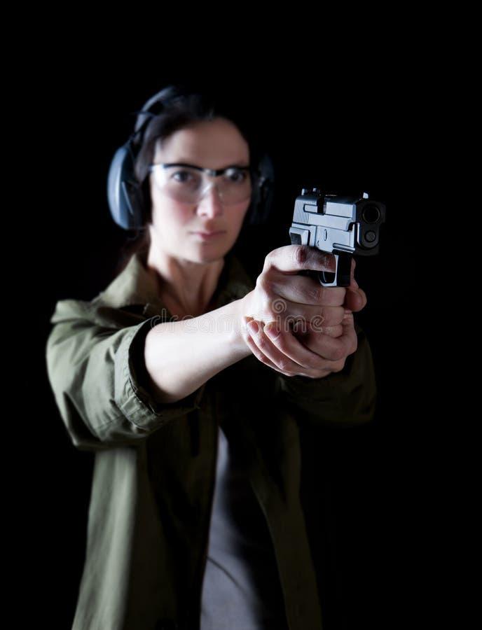 Пушка женщины стоковая фотография rf