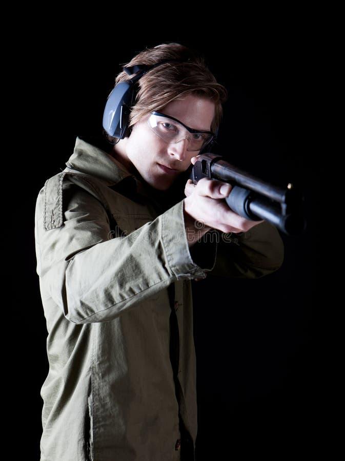 Пушка человека стоковая фотография rf