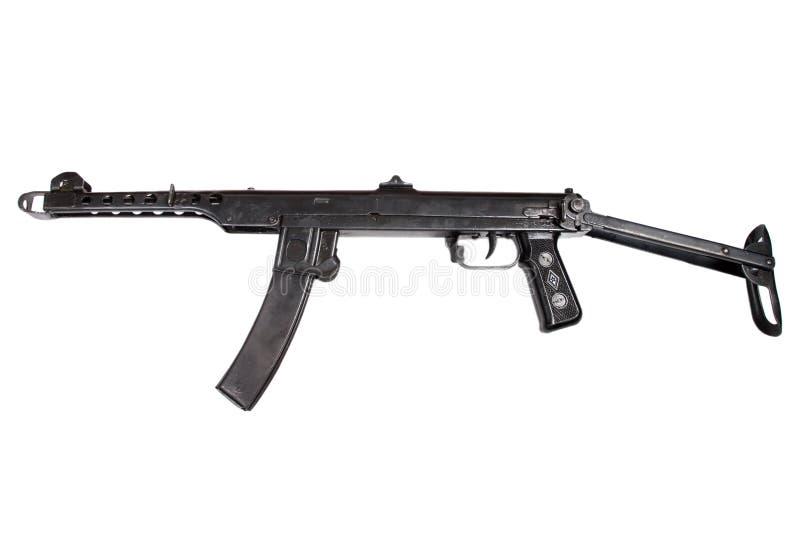 Пушка submachine Ww2 изолированная на белой предпосылке стоковое фото
