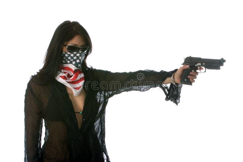 пушки девушок принципиальных схем горячие стоковое изображение