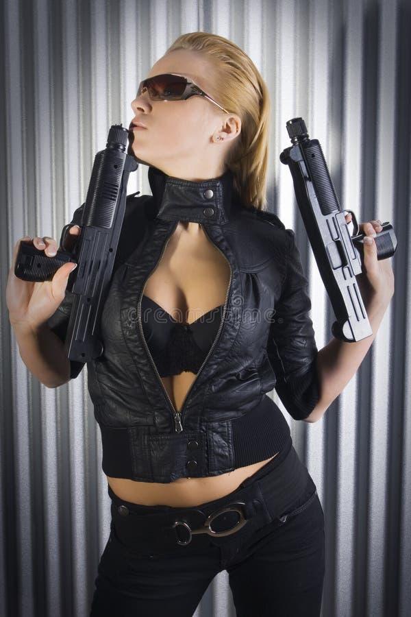пушки красотки стоковые фотографии rf