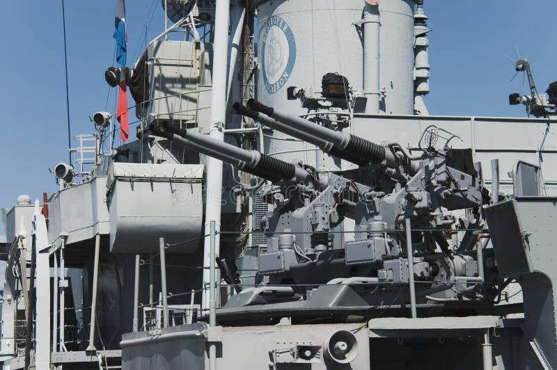 пушки линкора стоковое изображение