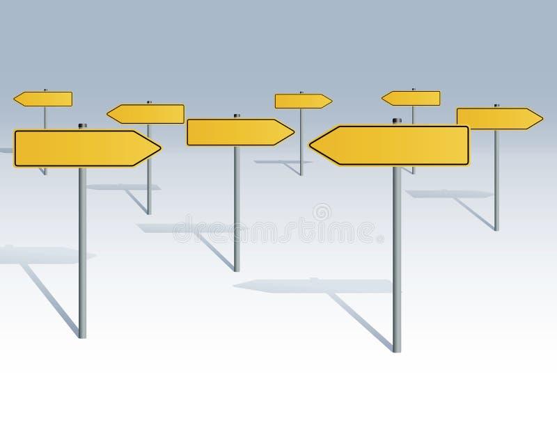 пуща подписывает движение иллюстрация вектора
