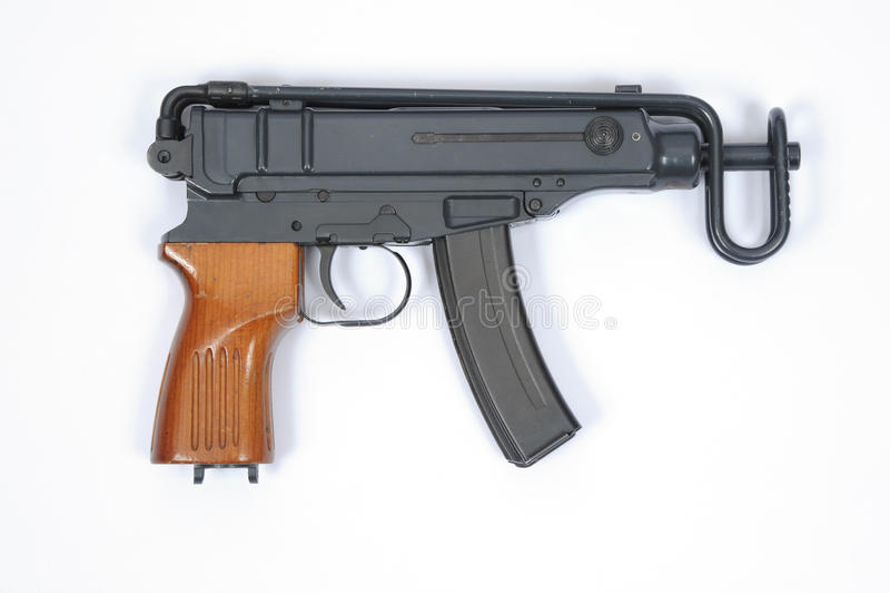 Пулемет SMG чеха Skorpion VZ 61 стоковое изображение