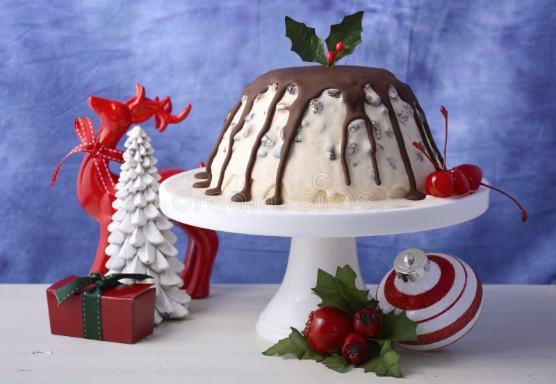 Пудинг сливы мороженого рождества летнего времени стоковые фотографии rf