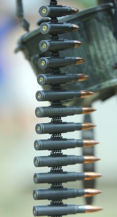 Пули пулемета готовые быть увольнянным стоковая фотография rf
