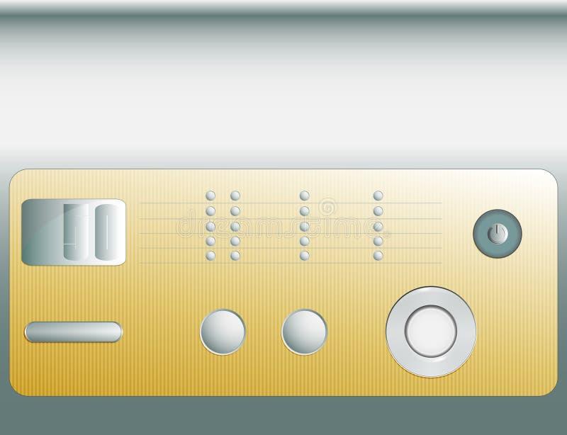 Пульт управления или комплект разных кнопок иллюстрация вектора