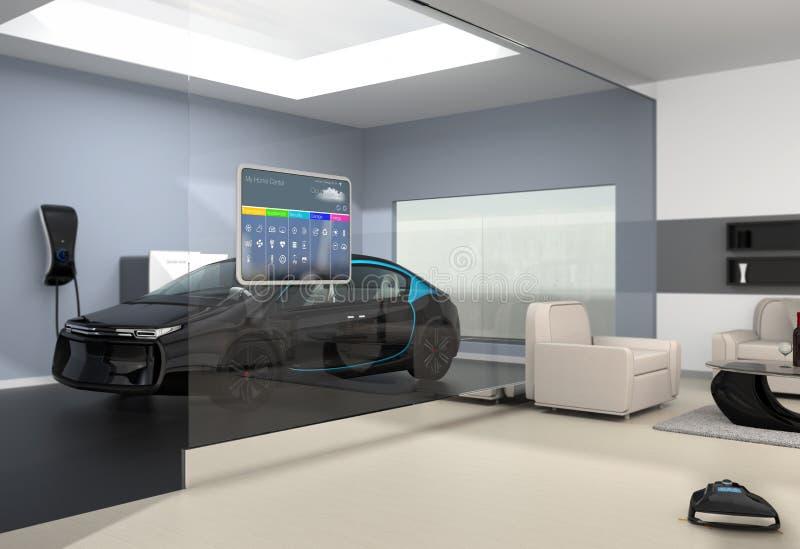 Пульт управления домашней автоматизации на стене иллюстрация штока