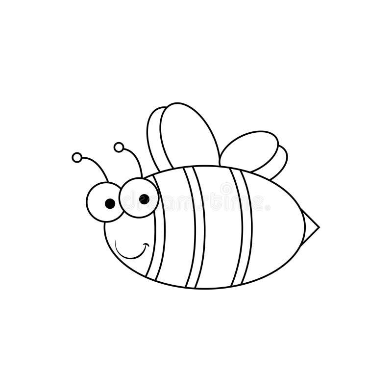 Пчела - простой значок иллюстрация вектора