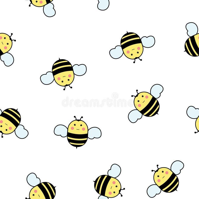 пчелы делают по образцу безшовное иллюстрация штока