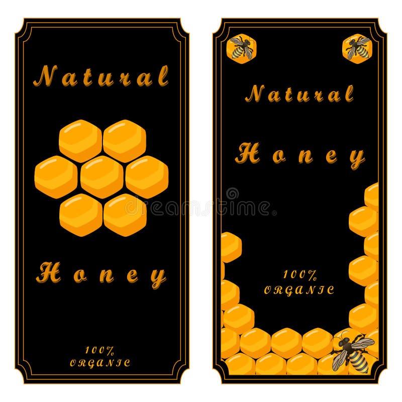 Пчела ест мед иллюстрация вектора