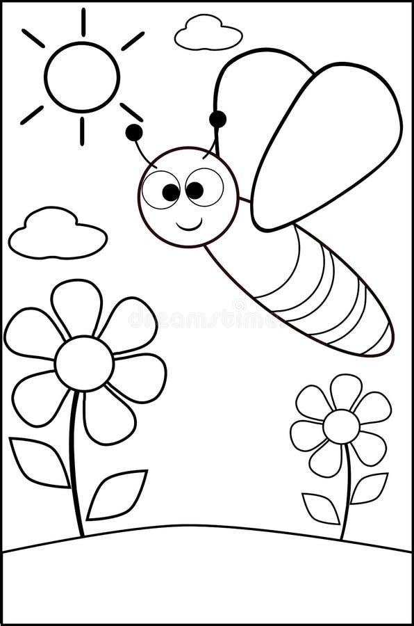 Пчела расцветки бесплатная иллюстрация